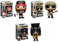 Funko POP! Rocks ~ GUNS N ROSES VINYL FIGURE SET ~ Slash, Axl Rose, Duff McKagan