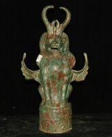 """Sculpture de 14 """"en bronze l'ancienne dynastie d'un palais chinois à la licorne"""