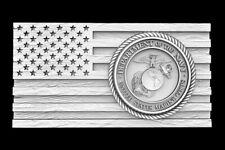 3d Stl Model For Cnc Router Artcam Flag Usa America Military Eagle D668