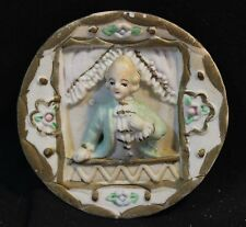 Small Decorative wall Plate - French Man in Wig standing at window