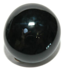 BLACK GLASS GEM TIE TACK (033)