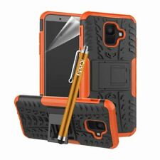 For Samsung Galaxy A6 Case Heavy Duty Armour Tough ShockProof Builder Slim Cover