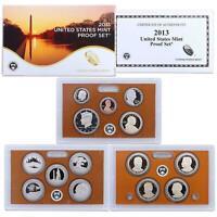 2013 S Proof Set Original Box & COA 14 Coins CN-Clad US Mint