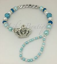 Boys Crown Bling Romany Personalised Dummy Clip