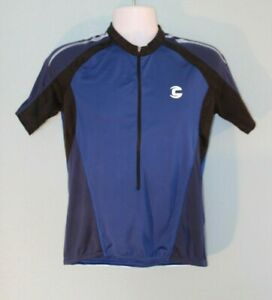 Blue & Black Cannondale Men's Large Cycling Jersey Pockets Zip Wicking ~18~