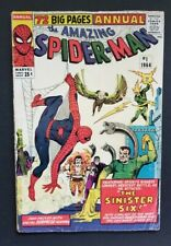 AMAZING SPIDER-MAN ANNUAL #1 • 1ST SINISTER SIX • SUPER FLAT FINE- • NO WAY HOME