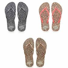 Havaianas Slim Animals Flip Flops Women Summer Beach Pool Sandals Animal Print