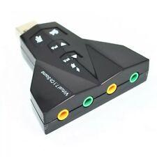 USB Sound Card External, Earphone Micphone for Computer Notebook Windows, Mac.