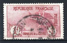 "FRANCE STAMP TIMBRE N° 154 "" ORPHELINS 1F+1F LA MARSEILLAISE "" OBLITERE TTB P312"