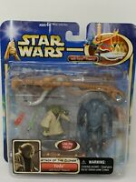 Star Wars Attack of the Clones Yoda With Force Powers Super Battle Droid 2002