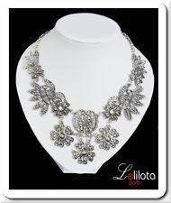 Halskette Filigrann Spitze Statement Kette Kragen Collier Vintage Metall Rodieri