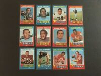 (Lot of 61) 1971 Topps Football Cards (HOF, Stars, Rookie Cards & Commons) EX-NM