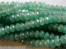 5x8mm Natural Faceted Emerald Abacus Loose Beads Gemstone 15'' AAA