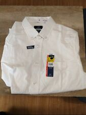 George Men's Dress Shirt Classic Fit Long Sleeve Wrinkle Resistant SMALL 34-36