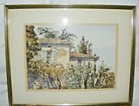 VINTAGE WATERCOLOUR PAINTING JAN GREGSON WELSH ARTIST CONTINENTAL SCENE SIGNED