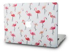MacBook Air 13 Inch Case Plastic Hard Shell Cover A1369 / A1466 Flamingo Design