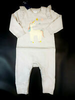 NWT Baby Gap Girl Size 0 3 6 12 18 24 Months Gray Unicorn Ruffle Sweater Romper