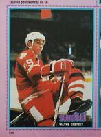 1982 Finnish Suosikki uncut postcard sheet Wayne Gretzky Canada(full magazine)