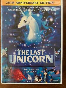 The Last Unicorn DVD 1982 Animated Feature Film Movie Region 1