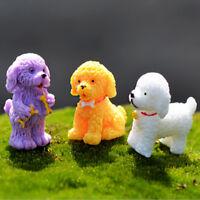 2x Fairy Figurines Resin Dog Microlandscape Trendy Home Bonsai DecorWA