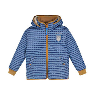 finkid VANU SOFT Kinder Winterjacke pebbles blue cinnamon 130 140