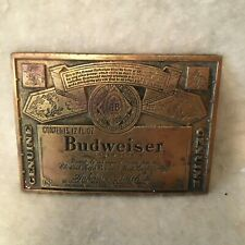New listing Vintage Budweiser Brass Belt Buckle - The King Of Beers