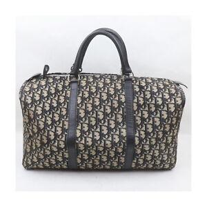 Christian Dior Boston Bag  Navy Blue Canvas 1721446