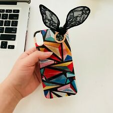 Cute Holographic Colorful Bunny Ears Iphone X XS Case