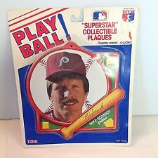 Vintage 1980's PLAY BALL Superstar Collectible Plaque Phillies Mike Schmidt MLB