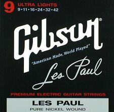 Gibson Gibson electric guitar strings Les Paul Ultra Light gauge Les Paul 009-0