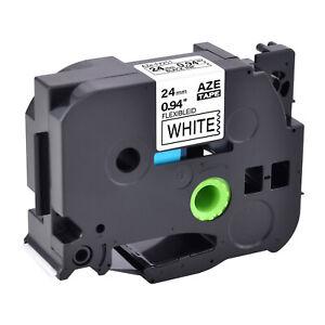 "Compatible Brother Black on White 1"" Flexible ID Label Tape Tze TZ-FX251"