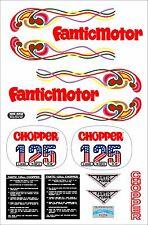 CutGrafix Fantic Chopper 125 50 Full Sticker Decal Restoration Set FREE SHIPPING