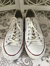 Converse White Leather Shoes Uk 11