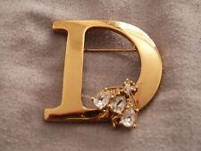 Superbe broche christian dior D abeille bijou doré vintage