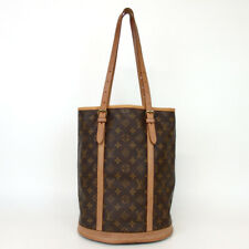 Authentic LOUIS VUITTON M42236 Monogram bucket GM DK1087 Tote Bag PVC/leathe...