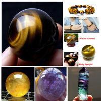 1pcs 40mm Natural Citrine Quartz Crystal Sphere Ball Healing Gemstone US