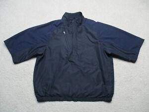 Zero Restriction 1/4 Zip Jacket Mens Medium Black Tour Series Short Sleeve Golf