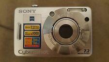 Sony Cyber-shot DSC-W70 7.2 MP Digital Camera - Silver