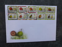 2015 LUXEMBOURG FRUIT BOOKLET OF 10 STAMPS FDC FIRST DAY COVER