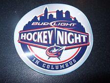 BUD LIGHT Columbus Blue Jackets Hockey Budweiser STICKER decal beer brewing