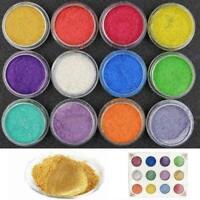 12STÜCKE Farben Perle Glimmer Pigment Pulver Metall Sparkle Schimmer Farbe P5T2