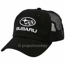 Subaru Logo & Star Cluster Mesh Back Adjustable Snap Back Hat Cap Black Licensed