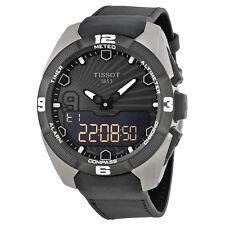 Tissot TTouch Expert Solar Digital Black Leather Mens Watch TIST0914204606100