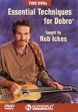 Essential Techniques for Dobro 2-DVD Set DVD Instructional Folk Instrm 000641578