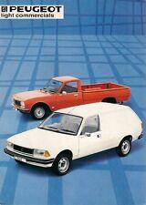 Peugeot 305 Van & 504 Pick-Up 1983-84 UK Market Sales Brochure