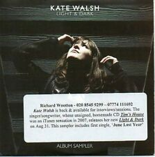 (AA743) Kate Walsh, Light & Dark - DJ CD