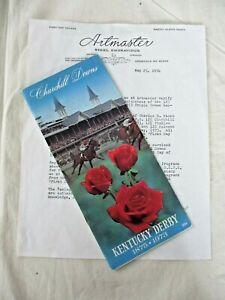 Ltd Ed 1973 SECRETARIAT Kentucky Derby TRIPLE CROWN PROGRAM & First Issue Stamps