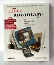 Metacreations Office Advantage Plug In for Excel and Powerpoint Win 95 98
