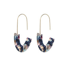 Girl Fashion Design  Acrylic Leopard Print Drop Earring Long Hoop Dangle Earring