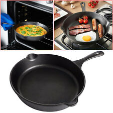 Large Non-Stick Frying Pan BBQ Induction Cooking Griddle Grill Cast Iron Fry Pan